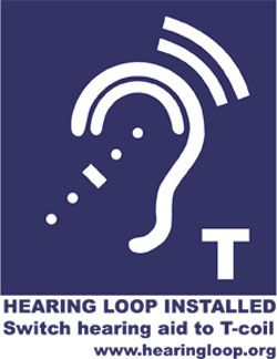 hearing loop installed. Switch hearing aid to T-coil. www.hearingloop.org